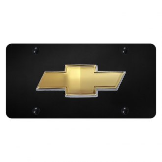 Autogold® - License Plate with 3D Gold OEM Chevrolet Emblem
