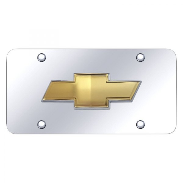 Autogold® - License Plate with OEM Chevrolet Emblem