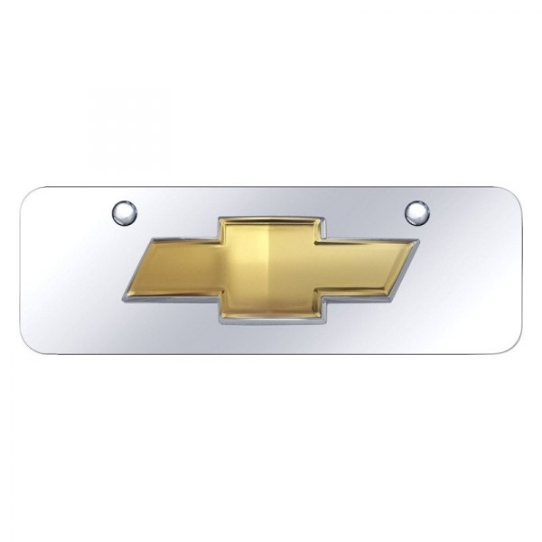 Auto Gold CHV.2.CC License Plate Chrome Chevy New Logo Chrome Plate Stainless