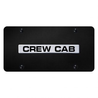 Autogold® - License Plate with Chrome Crew Cab Logo