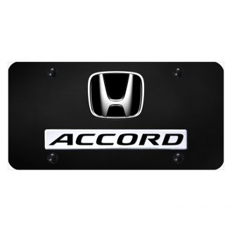 Autogold® - License Plate with Accord Logo and Honda Emblem