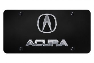 Autogold® - License Plate with 3D Acura Logo and Emblem