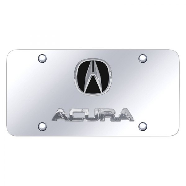 Autogold® - License Plate with Acura Logo and Emblem