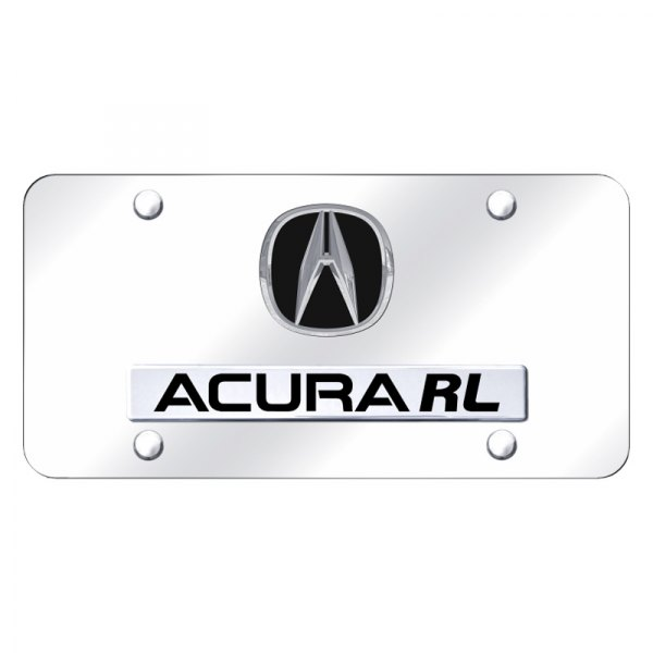 Acura Gold Logo On Polished License Plate