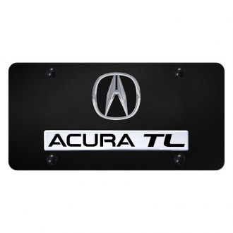 Autogold® - License Plate with 3D Chrome Acura TL Logo and Acura Emblem