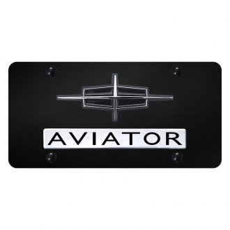 Autogold® - License Plate with Aviator Logo and Lincoln Emblem