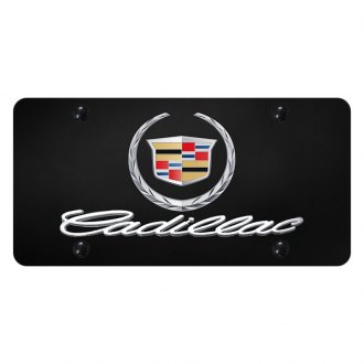 Autogold® - License Plate with 3D Cadillac New Logo and Emblem
