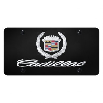 Autogold® - License Plate with 3D Cadillac Logo and Emblem