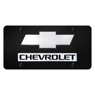 Autogold® - License Plate with 3D Chrome Chevrolet New Logo and Emblem