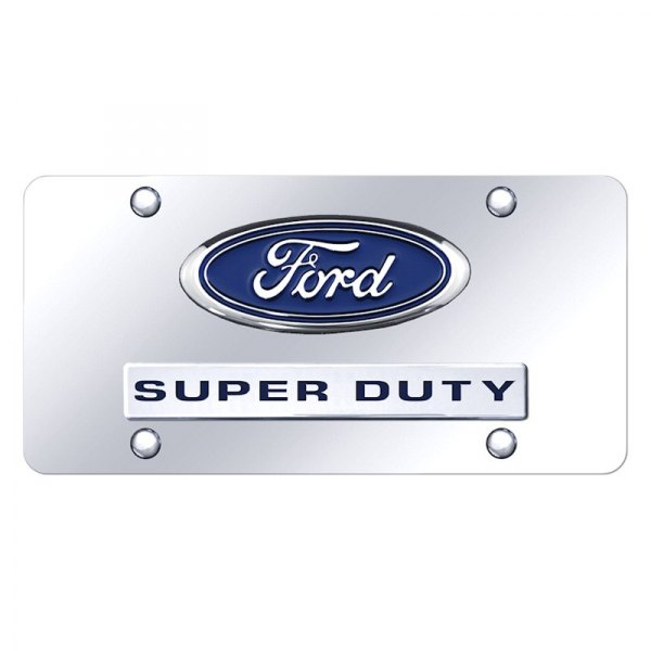 Autogold® - License Plate with Super Duty Logo and Ford Emblem