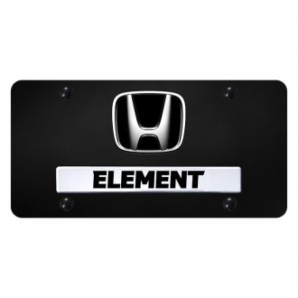 Autogold® - License Plate with Element Logo and Honda Emblem