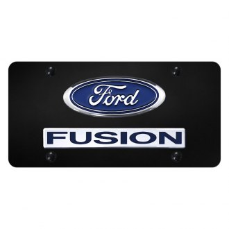 Autogold® - License Plate with Chrome Fusion Logo and Ford Emblem