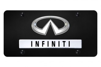 Autogold® - License Plate with OEM Style Infiniti Logo and Emblem