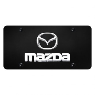 Autogold® - License Plate with Mazda New Logo and Emblem