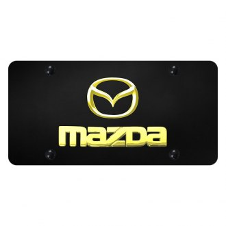 Autogold® - License Plate with 3D Mazda New Logo and Emblem