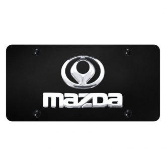 Autogold® - License Plate with Mazda Logo and Emblem