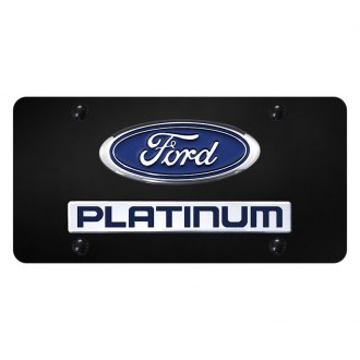 Autogold® - License Plate with 3D Chrome Platinum Logo and Ford Emblem