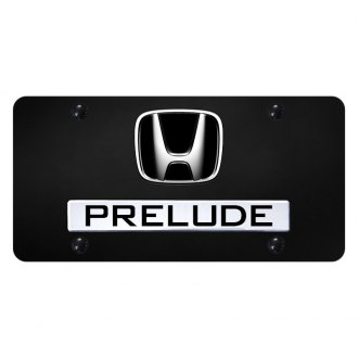 Autogold® - License Plate with 3D Prelude Logo and Honda Emblem