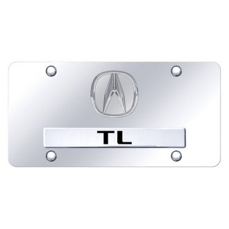 Autogold® - Chrome License Plate with 3D Chrome TL Logo and Acura Emblem