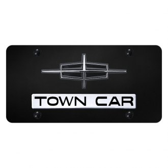 Autogold® - License Plate with Town Car Logo and Lincoln Emblem
