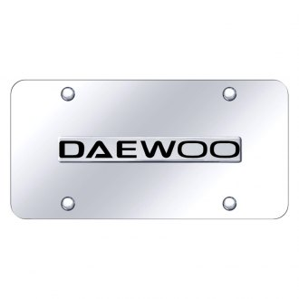 Autogold® - Chrome License Plate with 3D Daewoo Logo