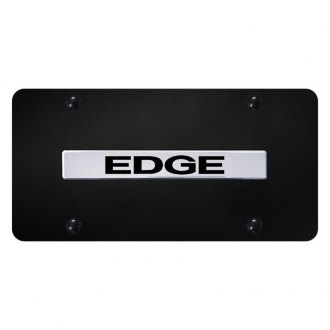 Autogold® - License Plate with Chrome Edge Logo