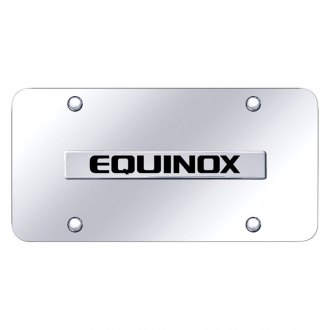 Autogold® - Chrome License Plate with Chrome Equinox Logo