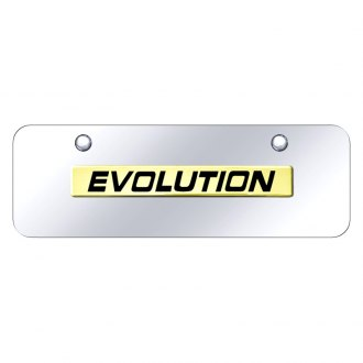 Autogold® - Chrome License Plate with 3D Evolution Logo