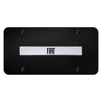 Autogold® - License Plate with 3D Chrome Fiat Logo