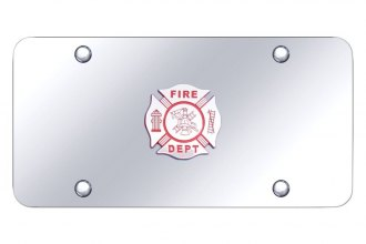 Autogold® - License Plate with 3D Fire Department Logo