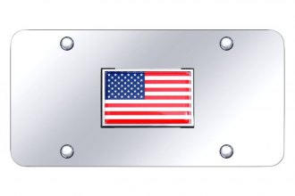Autogold® - License Plate with Flag Logo