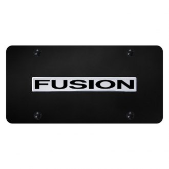 Autogold® - License Plate with Chrome Fusion Logo