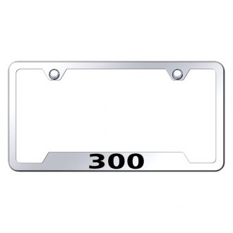 Autogold® - Chrome License Plate Frame with Laser Etched 300 Logo and Cut-Out