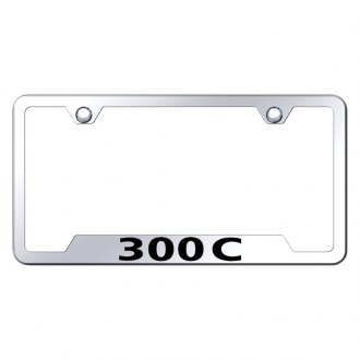 Autogold® - Chrome License Plate Frame with Laser Etched 300C Logo and Cut-Outs