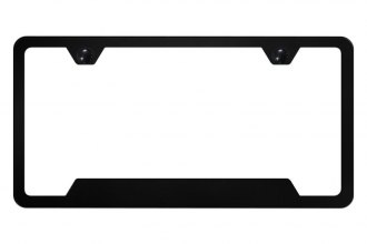 Autogold® - Slimline Plain 2-Hole License Plate Frame with Cut-Outs