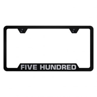 Autogold® - License Plate Frame with Laser Etched Ford 500 Logo and Cut-Out