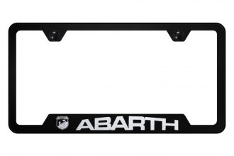 Autogold® - License Plate Frame with Laser Etched Abarth Logo and Cut-Out