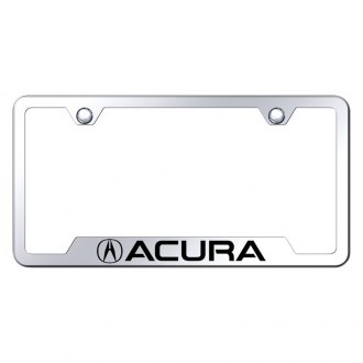Autogold® - Chrome License Plate Frame with Laser Etched Acura Logo and Cut-Out