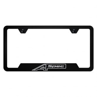 Autogold® - License Plate Frame with Laser Etched A Spec Logo and Cut-Out