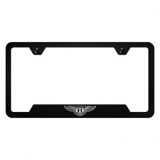 Autogold® - Black License Plate Frame with Laser Etched Bentley Only Logo