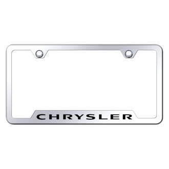 Autogold® - Chrome License Plate Frame with Laser Etched Chrysler Logo and Cut-Outs