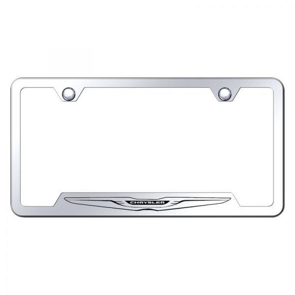 Autogold® - License Plate Frame with Laser Etched Chrysler Only Logo and Cut-Outs