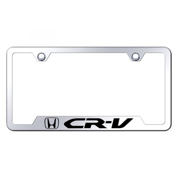 Autogold® - License Plate Frame with Laser Etched CR-V Logo and Cut-Out
