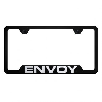 Autogold® - Black License Plate Frame with Laser Etched Envoy Logo and Cut-Out