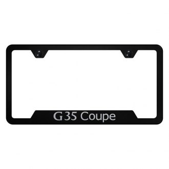 Autogold® - License Plate Frame with Laser Etched G35 Coupe Logo