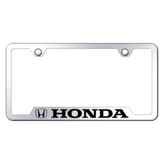 Autogold® - Chrome License Plate Frame with Laser Etched Honda Logo and Cut-Outs