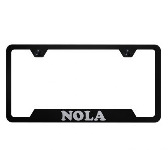 Autogold® - License Plate Frame with Laser Etched NOLA Logo and Cut-Outs