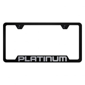 Autogold® - License Plate Frame with Laser Etched Platinum Logo and Cut-Out