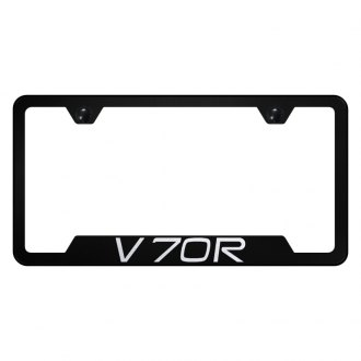 Autogold® - License Plate Frame with Laser Etched Volvo V70R Logo