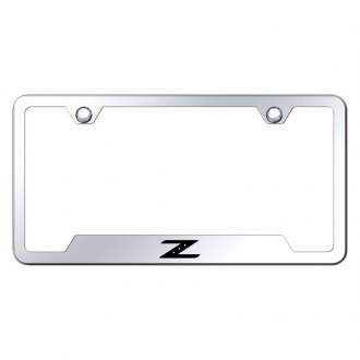 Autogold® - Chrome License Plate Frame with Laser Etched Z Logo and Cut-Outs
